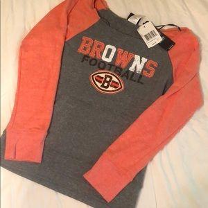 NWT Cleveland Browns Stitched Raglan Sweatshirt 🏈